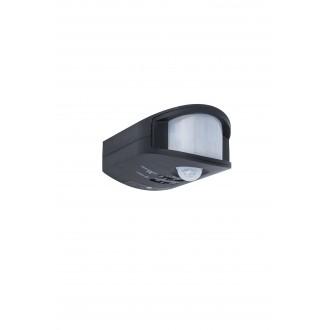 LUTEC 9701501330 | Lutec pohybový senzor PIR 270° svetelný senzor - súmrakový spínač IP44 čierna