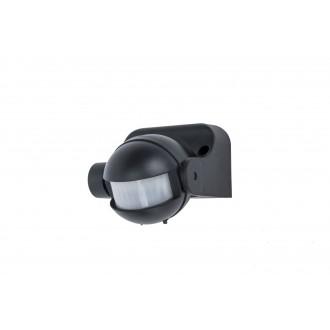 LUTEC 9701601330 | Lutec pohybový senzor PIR 180° svetelný senzor - súmrakový spínač IP44 čierna