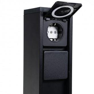 LUTEC 9702201012 | Mains Lutec konektorový stĺp svietidlo zásuvkové zospodu IP54 matná čierna