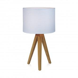 MARKSLOJD 104625 | Kullen Markslojd stolové svietidlo 44cm prepínač na vedení 1x E14 dub, biela