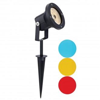 MARKSLOJD 104721 | Tradgard Markslojd zapichovacie svietidlo otočné prvky 1x LED 300lm 3000K IP44 čierna, farebné