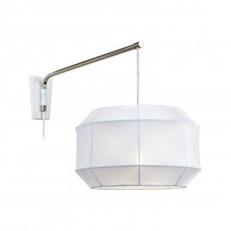 MARKSLOJD 105711 | Corse Markslojd rameno stenové svietidlo prepínač na vedení 1x E27 oceľové, biela