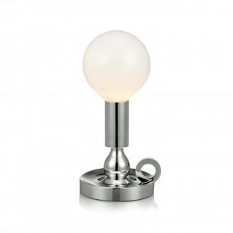 MARKSLOJD 105771 | History Markslojd stolové svietidlo 30cm prepínač 1x E27 chróm, opál