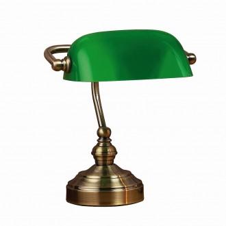 MARKSLOJD 105930 | Bankers Markslojd stolové svietidlo 25cm prepínač na vedení 1x E14 antická meď, zelená