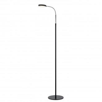 MARKSLOJD 106465   Flex-MS Markslojd stojaté svietidlo 132cm prepínač na vedení flexibilné 1x LED 300lm 3000K chróm, čierna