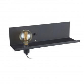 MARKSLOJD 106482 | Multi-MS Markslojd stenové svietidlo prepínač s reguláciou svetla regulovateľná intenzita svetla, USB prijímač 1x E27 čierna
