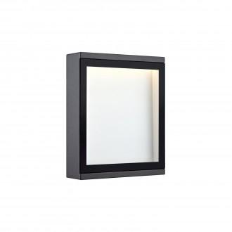 MARKSLOJD 106513 | Lamia Markslojd stenové svietidlo 1x LED 280lm IP44 sivé, priesvitné