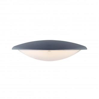 MARKSLOJD 106532 | Apus Markslojd stenové svietidlo 1x LED 300lm IP44 sivé, morené