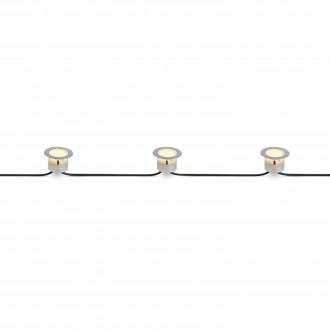 MARKSLOJD 106533 | Tradgard Markslojd zabudovateľné svietidlo - štart 3x LED 87lm 3000K IP67 oceľové, priesvitné