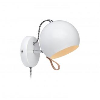 MARKSLOJD 106616   Ball-MS Markslojd rameno stenové svietidlo prepínač na vedení otočné prvky 1x E14 chróm, biela, hnedá