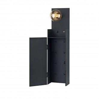 MARKSLOJD 106850 | Combo-MS Markslojd stenové svietidlo prepínač s reguláciou svetla regulovateľná intenzita svetla, USB prijímač, kľúčenka 1x E27 čierna
