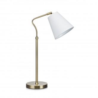 MARKSLOJD 106869 | Tindra Markslojd stolové svietidlo 50cm prepínač na vedení 1x E14 antický, biela