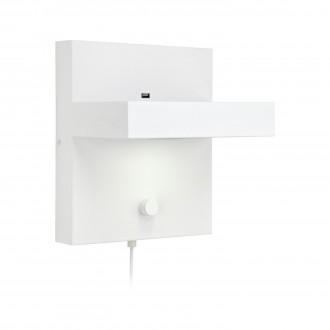 MARKSLOJD 106899 | Kubik Markslojd stenové svietidlo prepínač s reguláciou svetla regulovateľná intenzita svetla, USB prijímač 1x LED 525lm 3000K biela