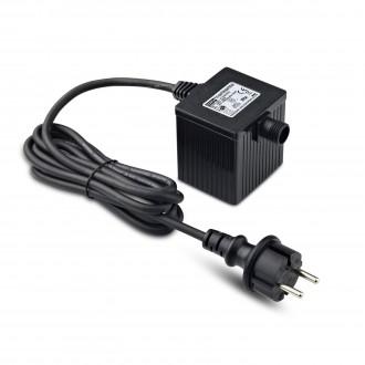 MARKSLOJD 106924 | Garden-24 Markslojd prvok systému - LED napájací zdroj 36W 24V vybavené vedením a zástrčkou IP64 čierna