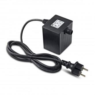 MARKSLOJD 106925 | Garden-24 Markslojd prvok systému - LED napájací zdroj 64W 24V vybavené vedením a zástrčkou IP64 čierna