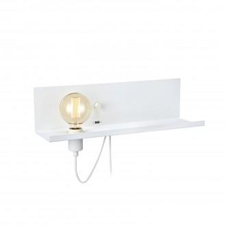 MARKSLOJD 106969 | Multi-MS Markslojd stenové svietidlo prepínač s reguláciou svetla regulovateľná intenzita svetla, USB prijímač 1x E27 biela