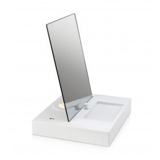 MARKSLOJD 107057 | Reflect Markslojd stolové svietidlo 36cm prepínač s reguláciou svetla regulovateľná intenzita svetla, USB prijímač 1x LED 525lm 3000K biela, zrkalový