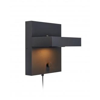 MARKSLOJD 107065 | Kubik Markslojd stenové svietidlo prepínač s reguláciou svetla regulovateľná intenzita svetla, USB prijímač 1x LED 525lm 3000K čierna
