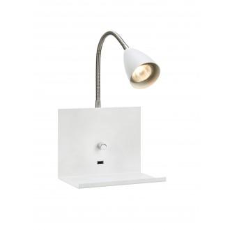 MARKSLOJD 107140 | Logi Markslojd rameno stenové svietidlo prepínač s reguláciou svetla regulovateľná intenzita svetla, USB prijímač 1x GU10 biela, chróm