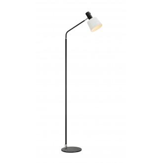 MARKSLOJD 107219 | Bodega Markslojd stojaté svietidlo 144,5cm prepínač otočné prvky 1x E27 čierna, biela