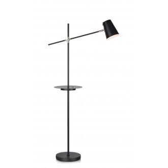 MARKSLOJD 107307 | Linear-MS Markslojd stojaté svietidlo 125cm prepínač otočné prvky, USB prijímač 1x E14 čierna, chróm