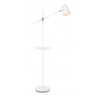 MARKSLOJD 107308 | Linear-MS Markslojd stojaté svietidlo 125cm prepínač otočné prvky, USB prijímač 1x E14 biela