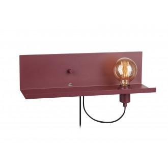 MARKSLOJD 107367 | Multi-MS Markslojd stenové svietidlo prepínač s reguláciou svetla regulovateľná intenzita svetla, USB prijímač 1x E27 burgundské