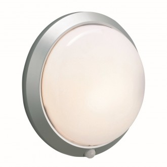 MARKSLOJD 125028 | Celtic-MS Markslojd stenové svietidlo pohybový senzor 1x E27 IP44 sivé, biela