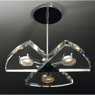 MAXLIGHT 120 12 12 01 | Venus Maxlight visiace svietidlo 3x G9 chróm, priesvitné