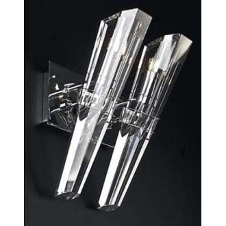 MAXLIGHT 147 72 12 01 | King Maxlight stenové svietidlo otočné prvky 2x G9 chróm, priesvitné