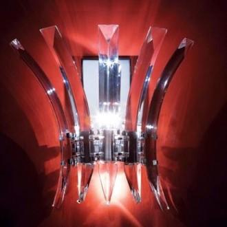 MAXLIGHT 3960/3W   Kristal Maxlight stenové svietidlo 3x G4 chróm, priesvitné