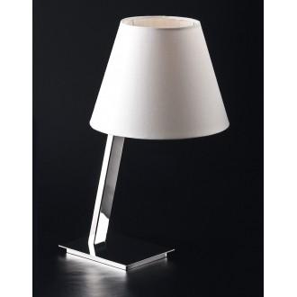 MAXLIGHT 5103T/WH | OrlandoM Maxlight stolové svietidlo 44cm prepínač 1x E27 biela, chróm