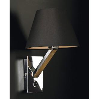 MAXLIGHT 5103W/BL | OrlandoM Maxlight stenové svietidlo prepínač 1x E27 čierna, chróm