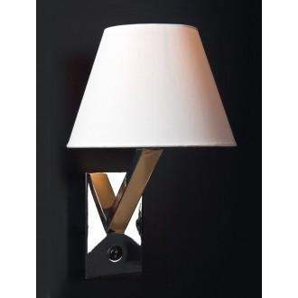 MAXLIGHT 5103W/WH | OrlandoM Maxlight stenové svietidlo prepínač 1x E27 biela, chróm
