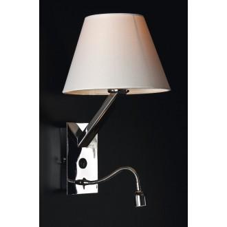 MAXLIGHT 5103WA/WH | OrlandoM Maxlight stenové svietidlo prepínač flexibilné 1x E27 + 1x LED biela, chróm