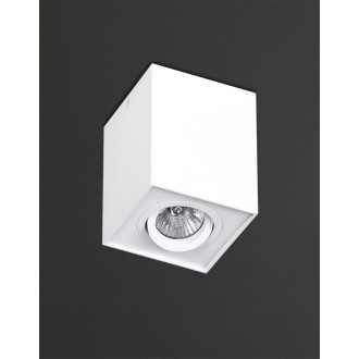 MAXLIGHT C0070 | Basic-Square Maxlight stropné svietidlo otáčateľný svetelný zdroj 1x GU10 biela
