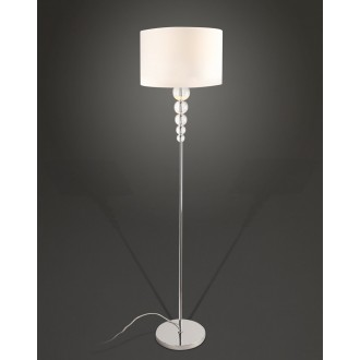MAXLIGHT F0038 | EleganceM Maxlight stojaté svietidlo 160cm prepínač 1x E27 biela, chróm, priesvitné