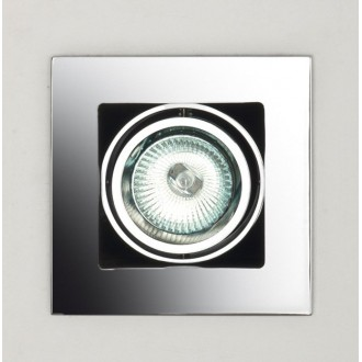 MAXLIGHT H0012 | BoxM Maxlight zabudovateľné svietidlo 110x110mm 1x MR16 / GU5.3 chróm