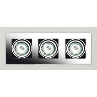 MAXLIGHT H0014 | BoxM Maxlight zabudovateľné svietidlo 280x110mm 3x MR16 / GU5.3 chróm