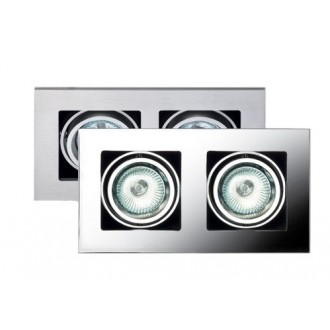 MAXLIGHT H0016 | BoxM Maxlight zabudovateľné svietidlo 195x110mm 2x MR16 / GU5.3 matný nikel