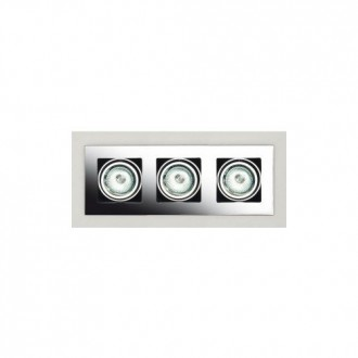 MAXLIGHT H0017 | BoxM Maxlight zabudovateľné svietidlo 280x110mm 3x MR16 / GU5.3 matný nikel