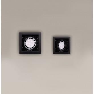 MAXLIGHT H0048 | MatrixM Maxlight zabudovateľné svietidlo sklápacie 185x185mm 1x G53 / AR111 čierna