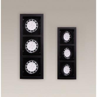 MAXLIGHT H0050 | MatrixM Maxlight zabudovateľné svietidlo sklápacie 505x185mm 3x G53 / AR111 čierna
