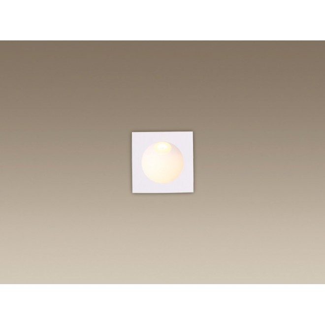MAXLIGHT H0073 | TimeM Maxlight zabudovateľné svietidlo 80x80mm 1x LED 140lm 3000K IP54 biela