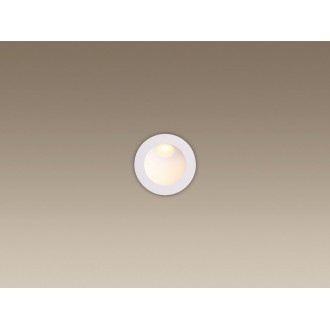 MAXLIGHT H0074 | TimeM Maxlight zabudovateľné svietidlo Ø80mm 1x LED 140lm 3000K IP54 biela
