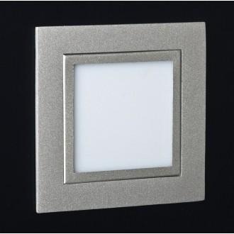 MAXLIGHT LEN.2C | PlanoM Maxlight zabudovateľné svietidlo 80x80mm 1x LED 3100K sivé