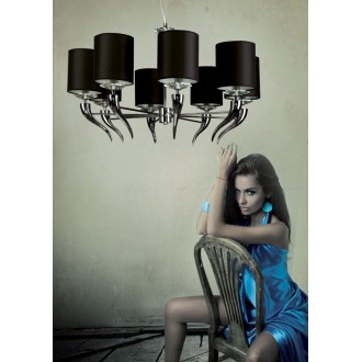 MAXLIGHT P0031   Lanta Maxlight luster svietidlo 8x E14 chróm, čierna