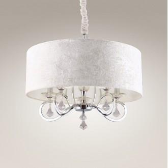 MAXLIGHT P0103 | Amsterdam Maxlight visiace svietidlo 5x E14 chróm, biela, priesvitné