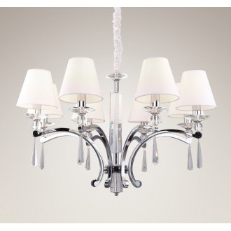 MAXLIGHT P0106 | Lisbona Maxlight luster svietidlo 8x E14 chróm, biela, priesvitné