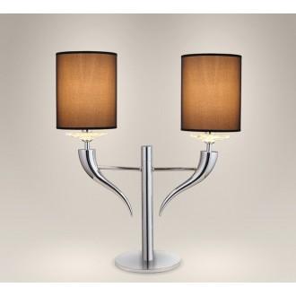 MAXLIGHT T0016   Lanta Maxlight stolové svietidlo 60cm prepínač 2x E14 chróm, čierna